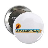 "Avalon NJ - Beach Design 2.25"" Button"
