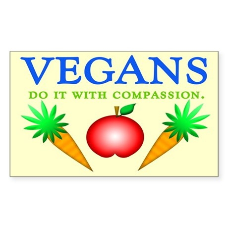 Vegans Do It... Rectangle Sticker