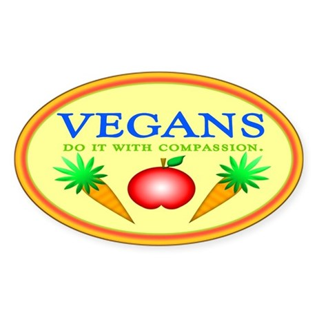 Vegans Do It... Oval Sticker