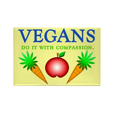 Vegans Do It... Rectangle Magnet (10 pack)
