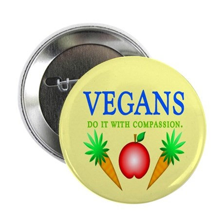 "Vegans Do It... 2.25"" Button (10 pack)"
