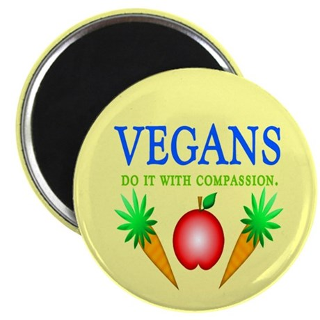 "Vegans Do It... 2.25"" Magnet (100 pack)"
