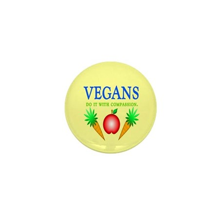 Vegans Do It... Mini Button