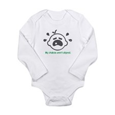 Yoga Chakras - Long Sleeve Bodysuit (Green)