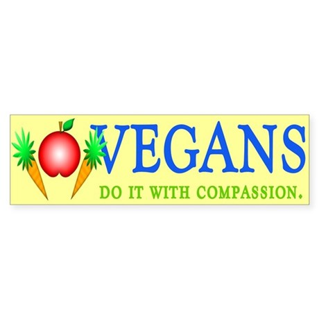 Vegans Do It... Bumper Sticker