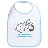 Yoga Happy Baby - Bib (Blue)