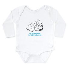 Yoga Happy Baby - Long Sleeve Bodysuit (Blue)