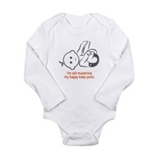 Yoga Happy Baby - Long Sleeve Bodysuit (Orange)