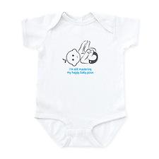 Yoga Happy Baby - Infant Bodysuit (Blue)