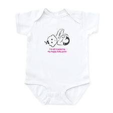 Yoga Happy Baby - Infant Bodysuit (Pink)