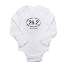 Running 26.2 - Long Sleeve Bodysuit (Pink)