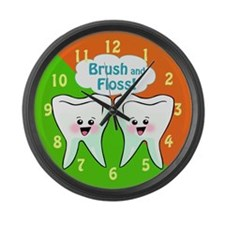 Funny Dentist Office Large Wall Clock