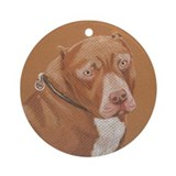 Staffy Ornament (Round)