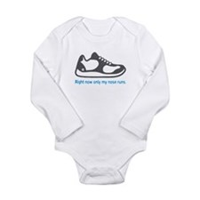Running Nose - Long Sleeve Bodysuit (Blue)