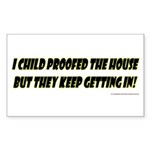 CHILD PROOF Sticker (Rectangle 50 pk)