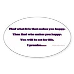 BE HAPPY Sticker (Oval 50 pk)