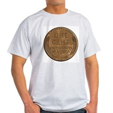 Lincoln Wheat Reverse Ash Grey T-Shirt