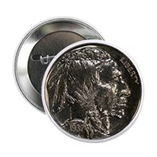 Buffalo Nickel Obverse Button