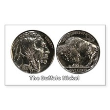 Buffalo Nickel Double-Sided Rectangle Decal