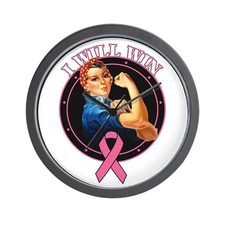 BreastCancer IWillWin Wall Clock
