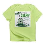 Short, Bald, & Cranky Infant T-Shirt (green)