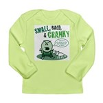 Short, Bald... Long Sleeve Infant T-Shirt (green)