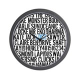 LOST Names Wall Clock