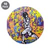 """Psychedelic Foil"" 3.5"" Button (10 pack)"