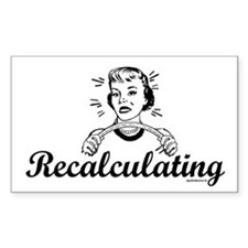 Recalculating Woman Decal