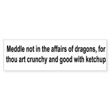 Cute Dragon art Bumper Sticker