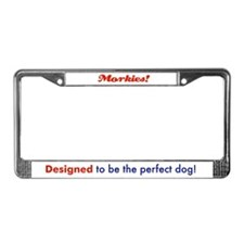 Cute Morkie License Plate Frame