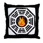 Dharma Flame Throw Pillow