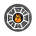 Dharma Flame Wall Clock