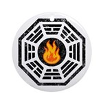Dharma Flame Ornament (Round)