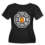 Dharma Flame Women's Plus Size Scoop Neck Dark T-S