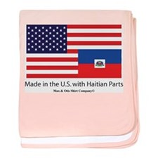 Made in America with Haitian baby blanket