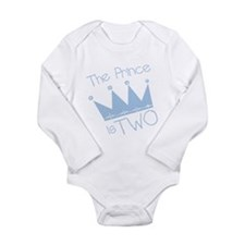 Prince I'm Two Long Sleeve Infant Bodysuit