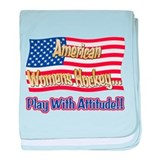 American Womens Hockey baby blanket
