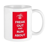 Keep Calm Parody: Freak Out Small Mug