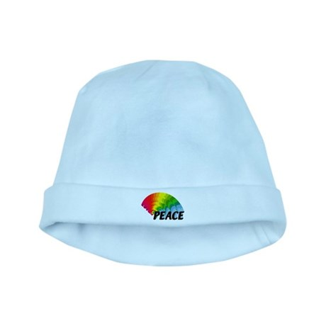 Rainbow Peace baby hat
