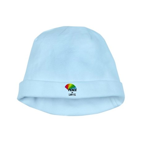 Rainbow Peace and Love baby hat