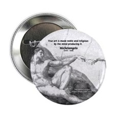"Michelangelo Creation of Adam 2.25"" Button (10 pac"