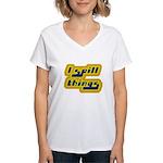 I Spill Things Shirt T-shirt Women's V-Neck T-Shir