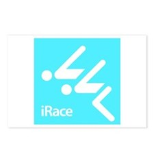 Competitive Swimming iRace Silhouette Postcards (P