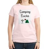 CAMPING ROCKS Women's Pink T-Shirt