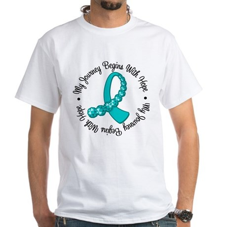 Ovarian Cancer Journey White T-Shirt