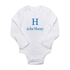 H is for Henry Long Sleeve Infant Bodysuit