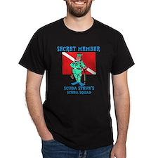 SCUBA Steve Black T-Shirt