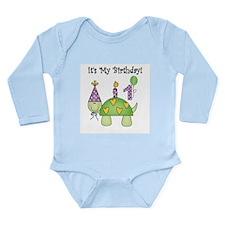 Turtle 1st Birthday Long Sleeve Infant Bodysuit