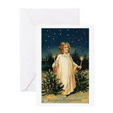Vintage German Christmas Art Greeting Card